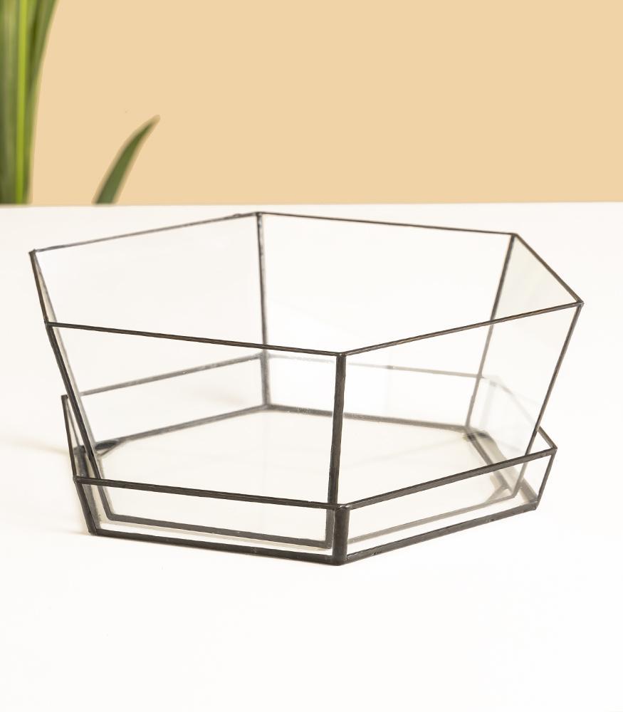 стеклянный горшок с поддоном заказать недорого