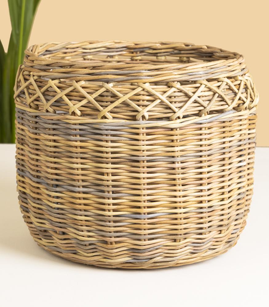 плетенное кашпо для комнатных растений купить с доставкой